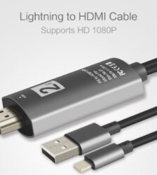 HDMI Adapter for iPhone, Phone to TV HDMI Cable, 1080P Digital AV Adapter,Sync Screen HDMI Connector Audio HDTV Cable Adaptor for iPhone12, 11, SE, 7, 6, iPad Air, Mini, iPro, iPod Touch, 1.8M